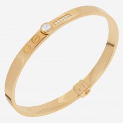 Золотой браслет с бриллиантом, арт. 220621.04.13
