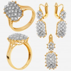 Золотой комплект с бриллиантом, арт. 230421.04.04