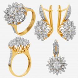 Золотой комплект с бриллиантом, арт. 230421.04.07