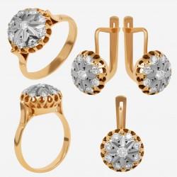 Золотой комплект с бриллиантом, арт. 230421.04.11