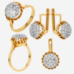 Золотой комплект с бриллиантом, арт. 230421.04.12