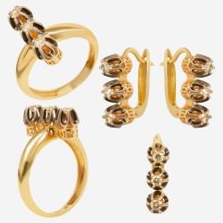 Золотой комплект с бриллиантом, арт. 230421.04.14