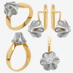 Золотой комплект с бриллиантом, арт. 230421.04.16