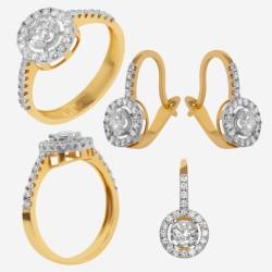 Золотой комплект с бриллиантом, арт. 230421.04.17