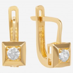 Детские золотые серьги с цирконием, арт. 230621.04.26