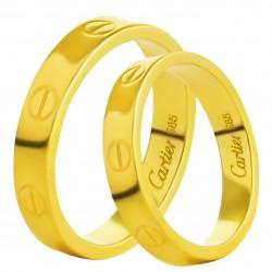 Золотое обручальное кольцо, арт. 230821.07.01