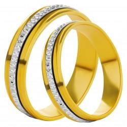 Золотое обручальное кольцо, арт. 230821.07.02