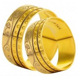 Золотое обручальное кольцо, арт. 230821.07.03