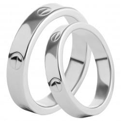 Золотое обручальное кольцо, арт. 230821.07.04