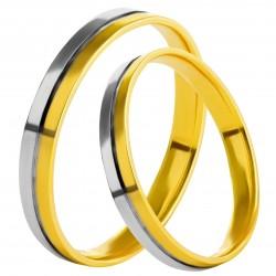 Золотое обручальное кольцо, арт. 230821.07.06
