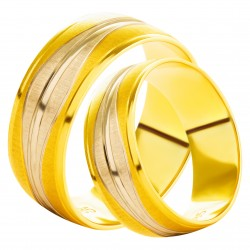 Золотое обручальное кольцо, арт. 230821.07.07