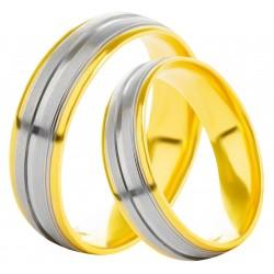 Золотое обручальное кольцо, арт. 230821.07.08