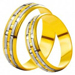 Золотое обручальное кольцо, арт. 230821.07.09