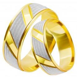 Золотое обручальное кольцо, арт. 230821.07.10