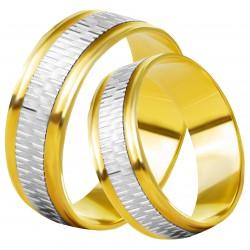Золотое обручальное кольцо, арт. 230821.07.11