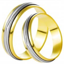 Золотое обручальное кольцо, арт. 230821.07.12