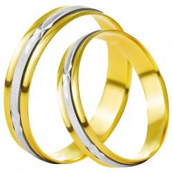 Золотое обручальное кольцо, арт. 230821.07.13