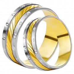Золотое обручальное кольцо, арт. 230821.07.14