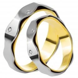 Золотое обручальное кольцо, арт. 230821.07.15