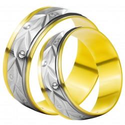 Золотое обручальное кольцо, арт. 230821.07.16