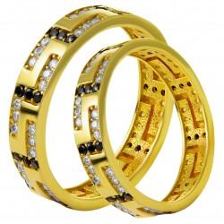 Золотое обручальное кольцо, арт. 230821.07.17