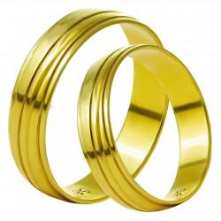Золотое обручальное кольцо, арт. 230821.07.18