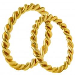 Золотое обручальное кольцо, арт. 230821.07.19