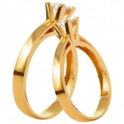 Золотое помолвочное кольцо, арт. 230821.07.20