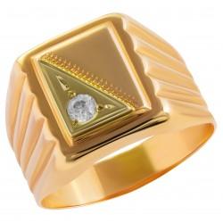 Мужское золотое кольцо, арт. 230821.07.22