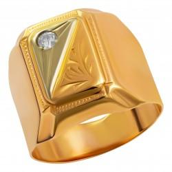 Мужское золотое кольцо, арт. 230821.07.25