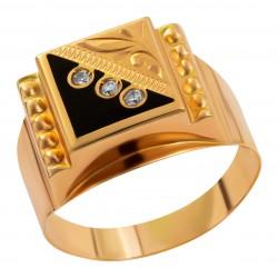 Мужское золотое кольцо, арт. 230821.07.26