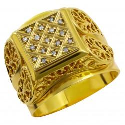 Мужское золотое кольцо, арт. 230821.07.27