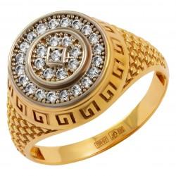 Мужское золотое кольцо, арт. 230821.07.28