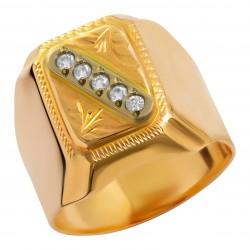 Мужское золотое кольцо, арт. 230821.07.29