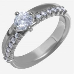 Золотое кольцо с бриллиантом арт. 250321.03.11