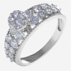 Золотое кольцо с бриллиантом арт. 250321.03.13