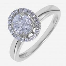 Золотое кольцо с бриллиантом арт. 250321.03.14