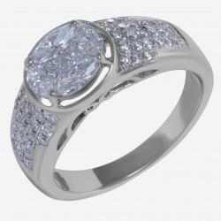 Золотое кольцо арт. 250321.03.16