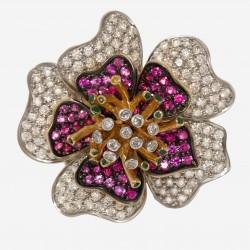 Золотое кольцо с бриллиантом арт. 250321.03.18