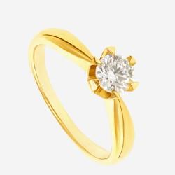 Золотое помолвочное кольцо с бриллиантом арт. 260321.03.01