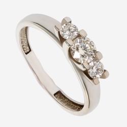 Золотое кольцо с бриллиантом арт. 260321.03.02
