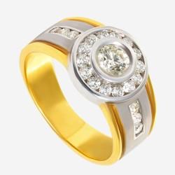 Золотое кольцо с бриллиантом арт. 260321.03.05
