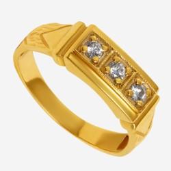 Золотое кольцо с бриллиантом арт. 260321.03.09