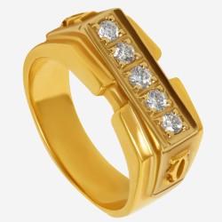 Золотое кольцо с бриллиантом арт. 260321.03.10