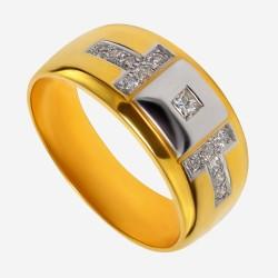 Золотое кольцо с бриллиантом арт. 260321.03.12