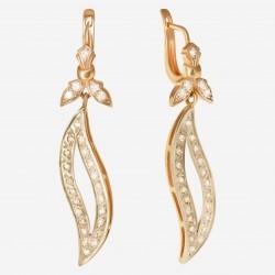 Золотые серьги с бриллиантом, арт. 290321.03.12