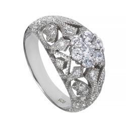 Серебряный комплект, кольцо и серьги, арт. 171219.02.96